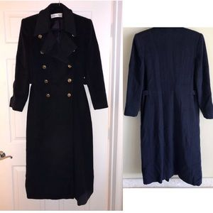 Dior double breasted long coat